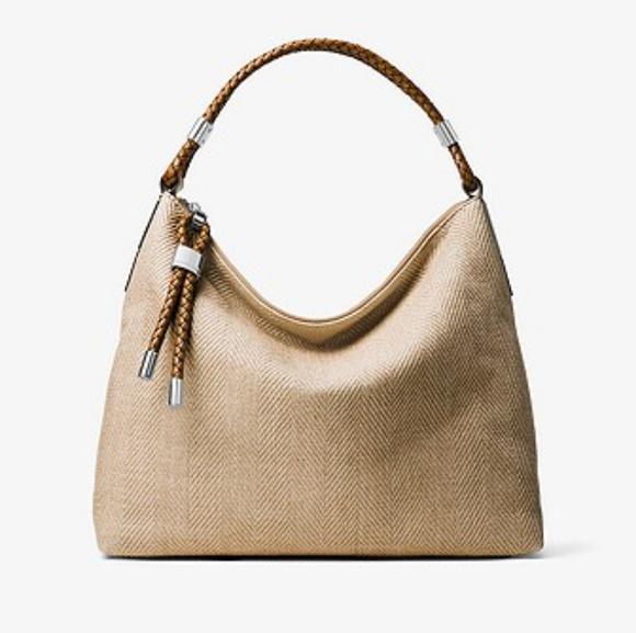 0ac1f074ff Michael Kors Skorpios Woven Shoulder Bag